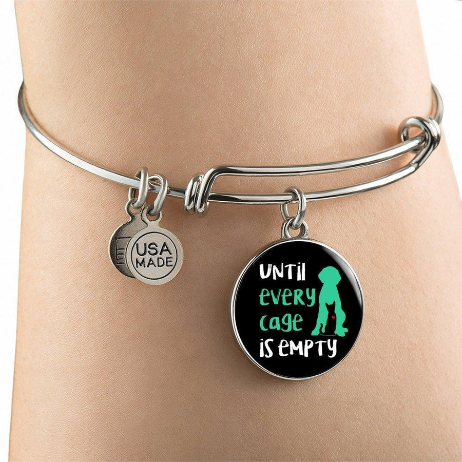 Veterinary Jewelry Gift Adjustable Luxury Bangle Bracelet - Until every cage is empty-Bangle Bracelet-I love Veterinary