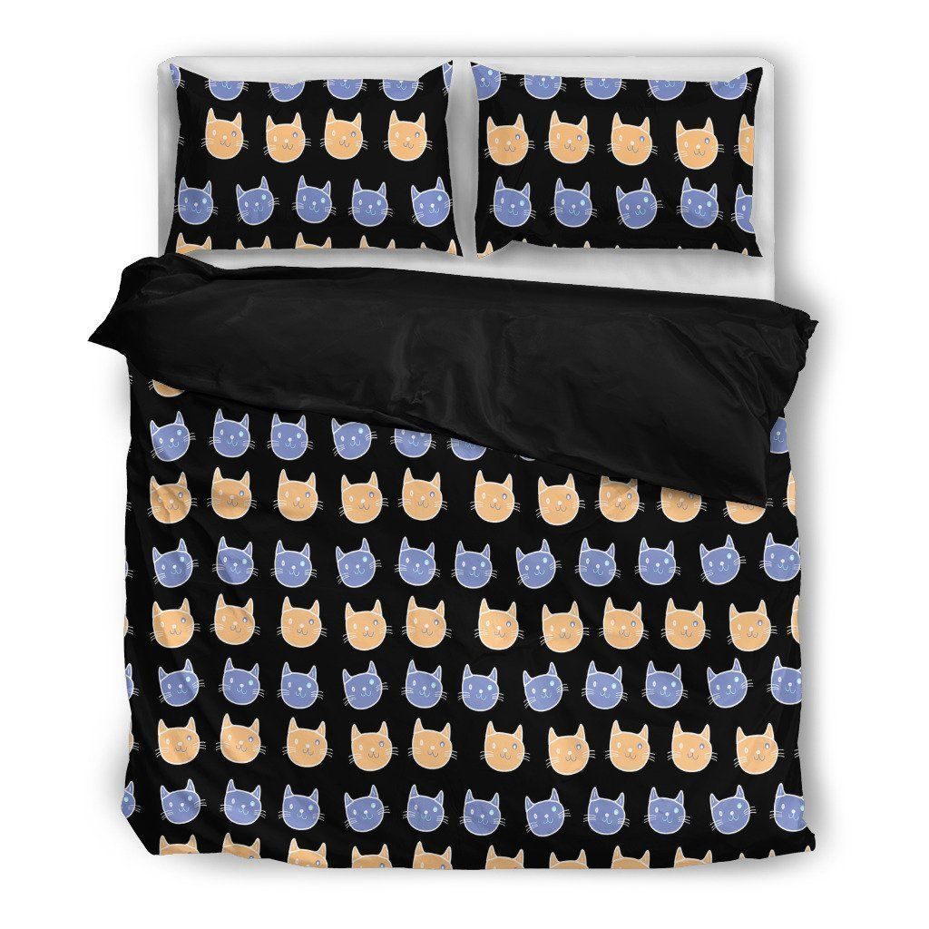 Cats Pattern Bedding Set-Bed sheets-I love Veterinary