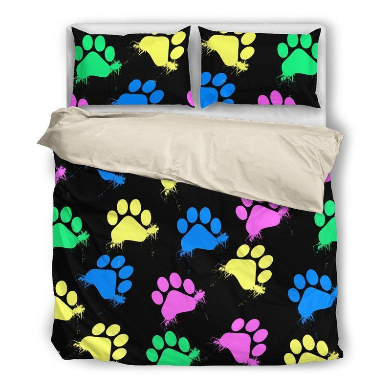 Colorful Paws Bedding Set-Bed sheets-I love Veterinary
