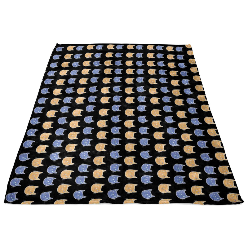 Cats Pattern Fleece Blanket-Blankets-I love Veterinary