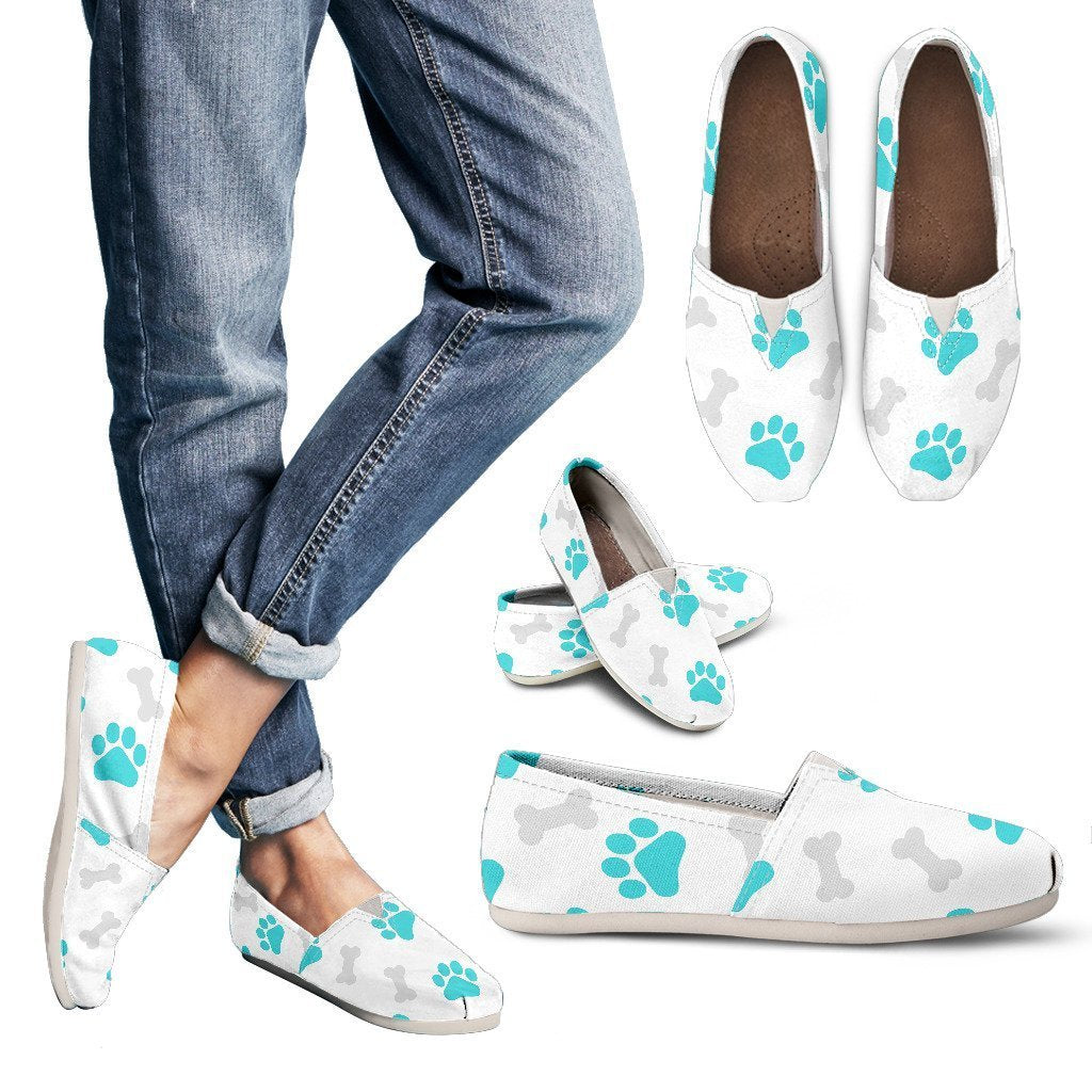 Paws and Bones White Women's Casual Shoes-Casual shoes-I love Veterinary