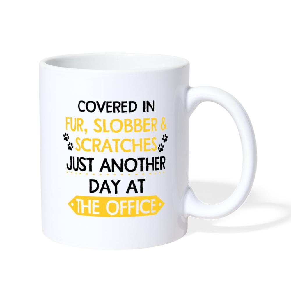 Fur, Slobber, Scratches Veterinary White Coffee or Tea Mug-Coffee/Tea Mug-I love Veterinary