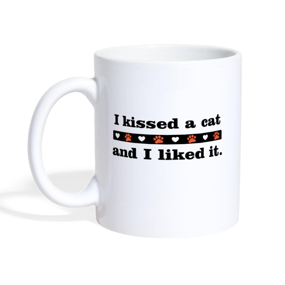 I kissed a cat and I like it White Coffee or Tea Mug-Coffee/Tea Mug-I love Veterinary