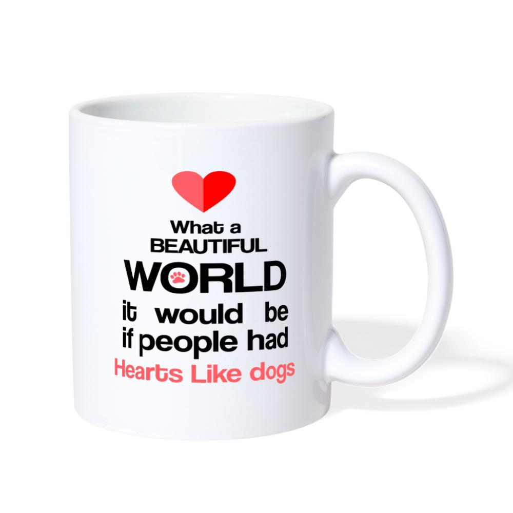 If people had hearts like dogs White Coffee or Tea Mug-Coffee/Tea Mug-I love Veterinary