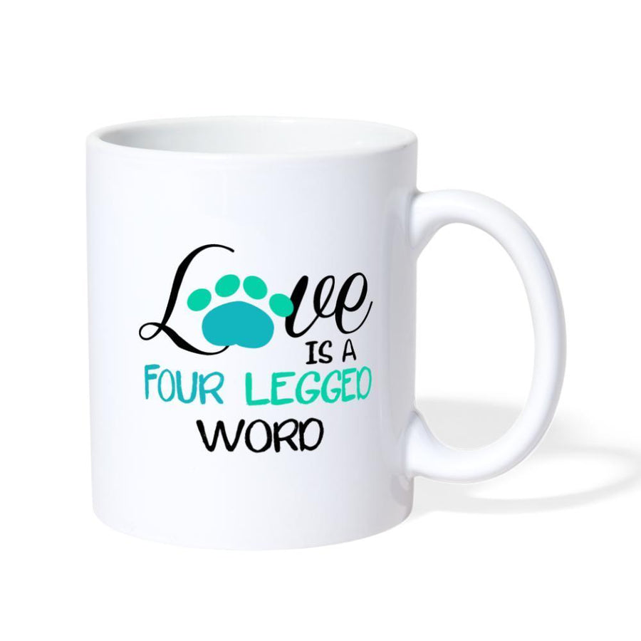 Love is four legged word White Coffee or Tea Mug