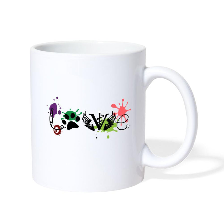 LOVE Veterinary Medicine White Coffee or Tea Mug