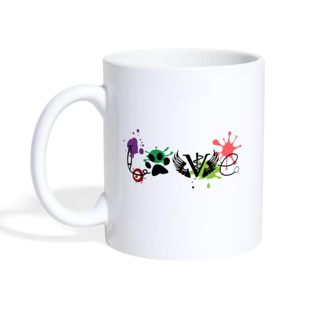 LOVE Veterinary Medicine White Coffee or Tea Mug-Coffee/Tea Mug-I love Veterinary