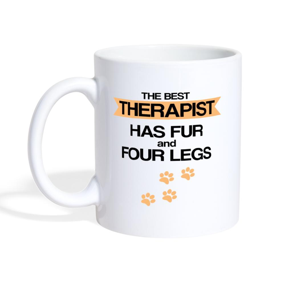 The best therapist has fur and four legs Coffee or Tea Mug-Coffee/Tea Mug-I love Veterinary