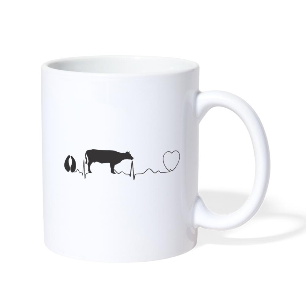 Veterinarian - Cow pulse White Coffee or Tea Mug-Coffee/Tea Mug-I love Veterinary