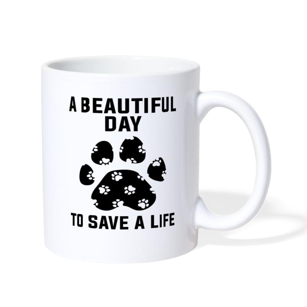 Veterinary - A beautiful day to save a life White Coffee or Tea Mug-Coffee/Tea Mug-I love Veterinary
