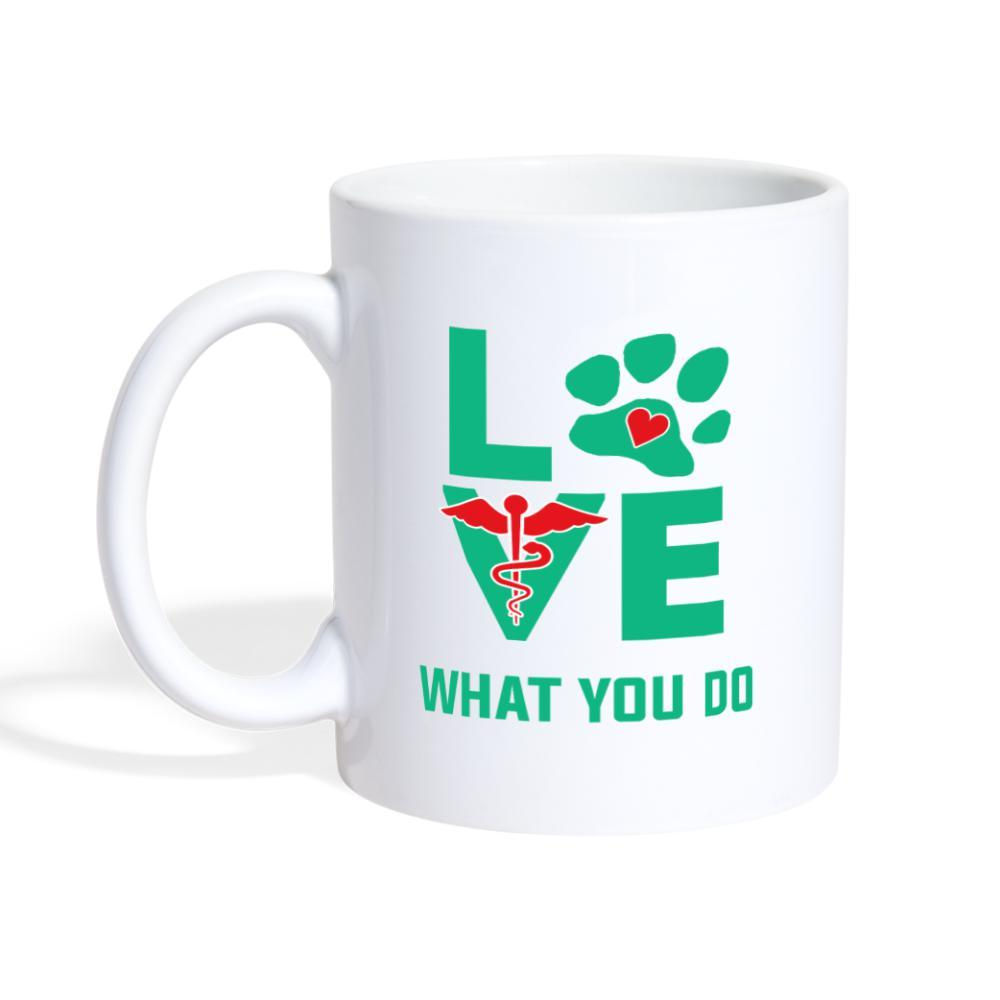 Veterinary - Love what you do White Coffee or Tea Mug-Coffee/Tea Mug-I love Veterinary