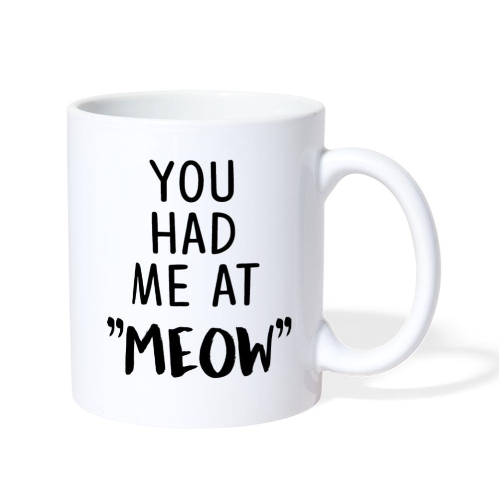 "You had me at """"meow"""" White Coffee or Tea Mug-Coffee/Tea Mug-I love Veterinary"