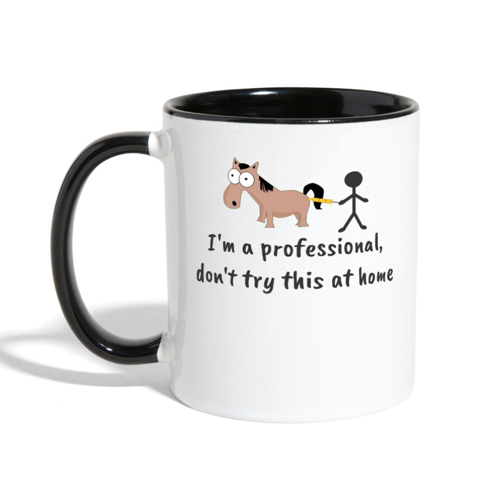 Don't try this at home Contrast Coffee Mug-Contrast Coffee Mug-I love Veterinary