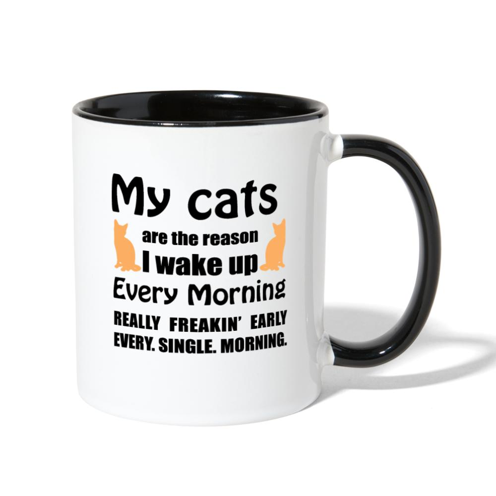 My cats are the reason I wake up Contrast Coffee Mug-Contrast Coffee Mug-I love Veterinary