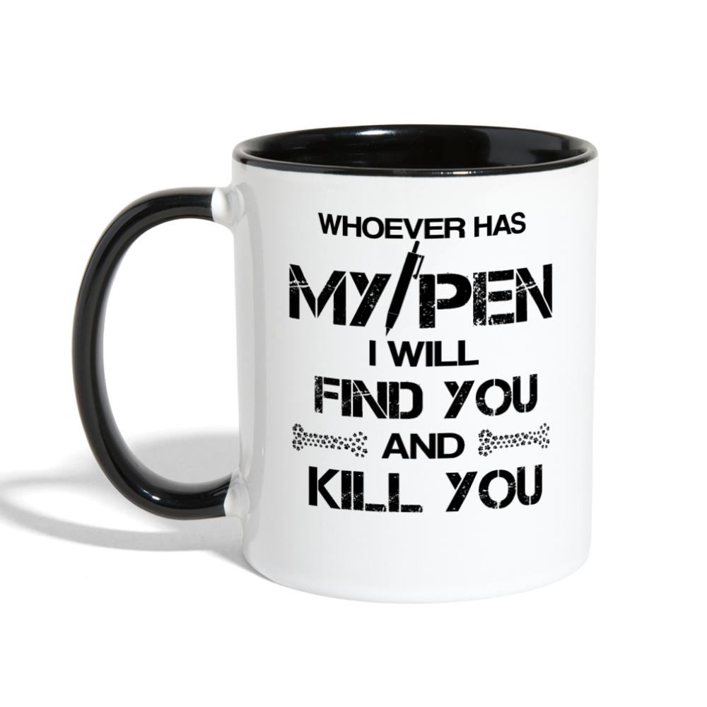 My Pen Contrast Coffee Mug-Contrast Coffee Mug-I love Veterinary