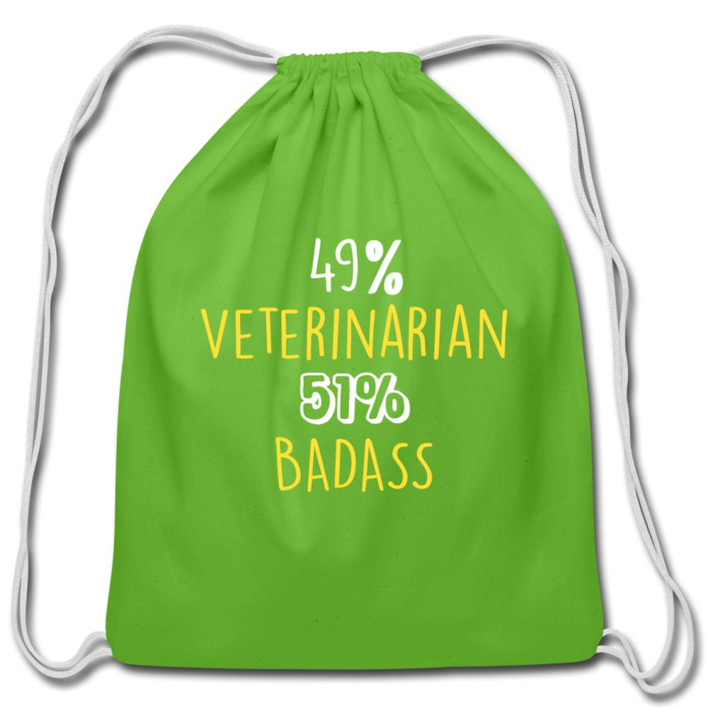 49% Veterinarian 51% Badass Drawstring Bag-Cotton Drawstring Bag-I love Veterinary