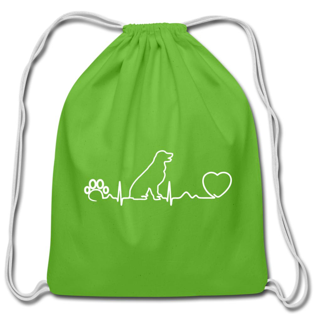 Dog heartbeat Drawstring Bag-Cotton Drawstring Bag-I love Veterinary