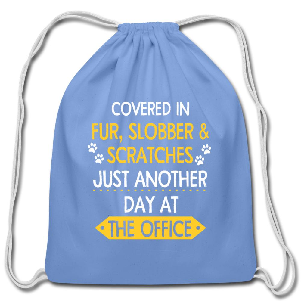 Fur, Slobber, Scratches Drawstring Bag-Cotton Drawstring Bag-I love Veterinary
