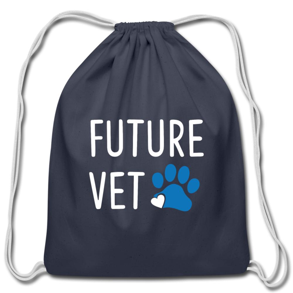 Future Vet Drawstring Bag-Cotton Drawstring Bag-I love Veterinary