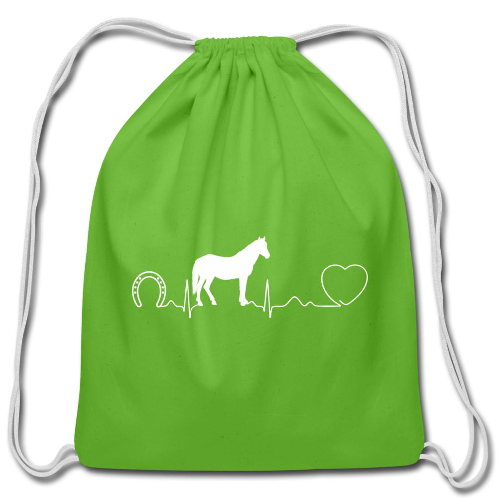 Horse pulse Drawstring Bag-Cotton Drawstring Bag-I love Veterinary