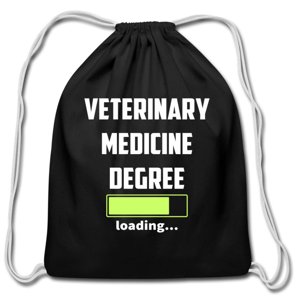 Veterinary medicine degree loading Drawstring Bag-Cotton Drawstring Bag-I love Veterinary