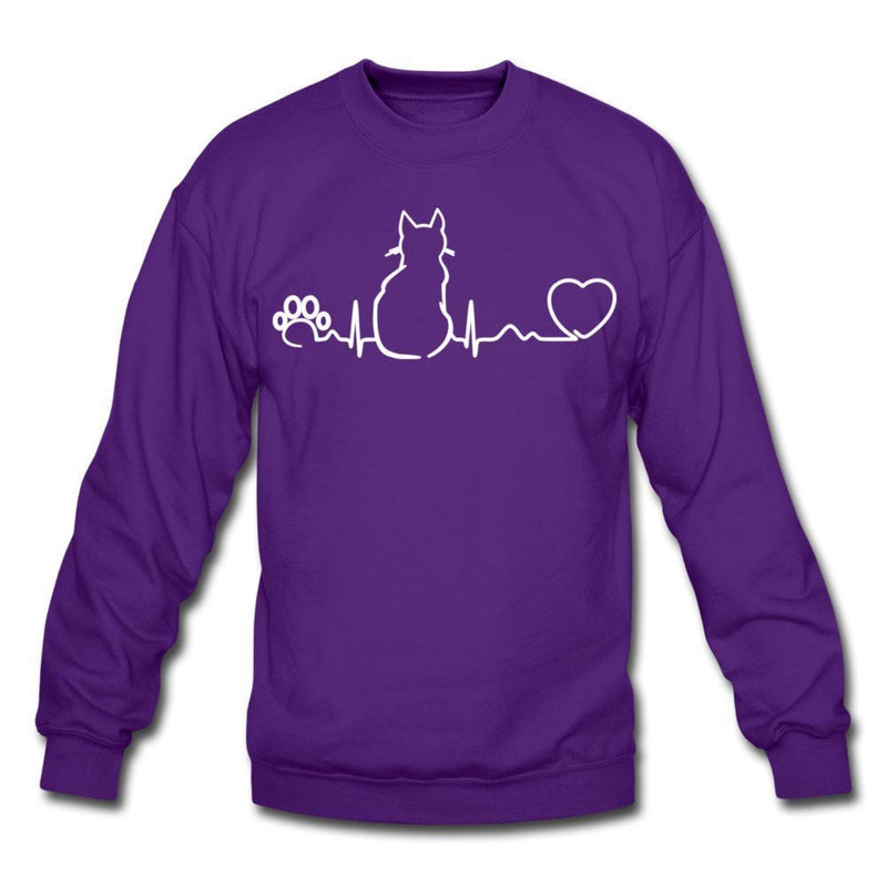 Cat Pulse Crewneck Sweatshirt-Crewneck Sweatshirt-I love Veterinary