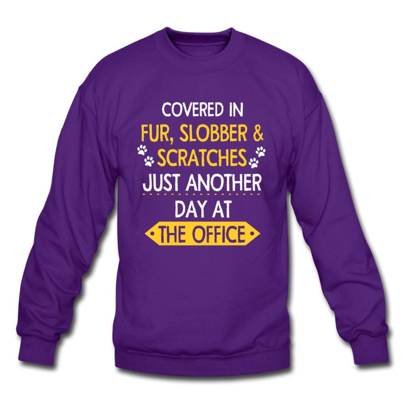 Fur, Slobber, Scratches Crewneck Sweatshirt-Crewneck Sweatshirt-I love Veterinary