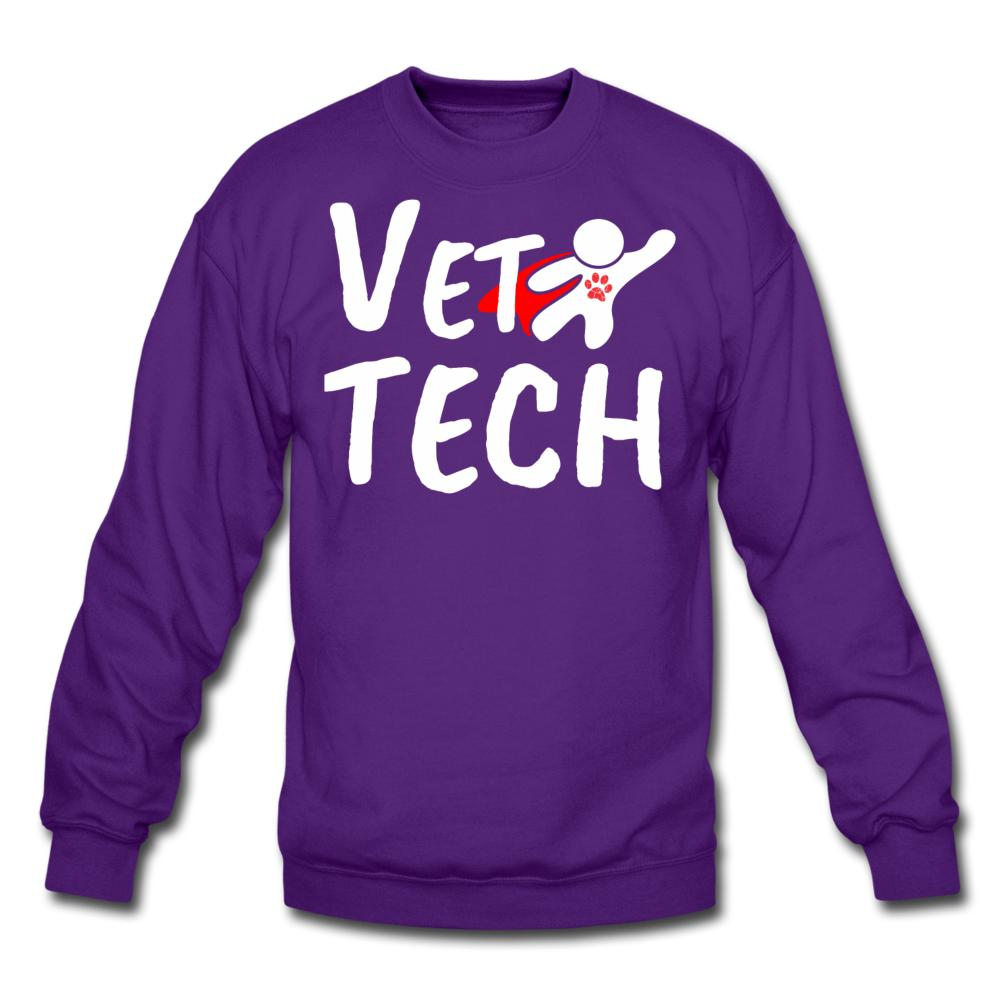 Super Vet Tech Crewneck Sweatshirt-Crewneck Sweatshirt-I love Veterinary