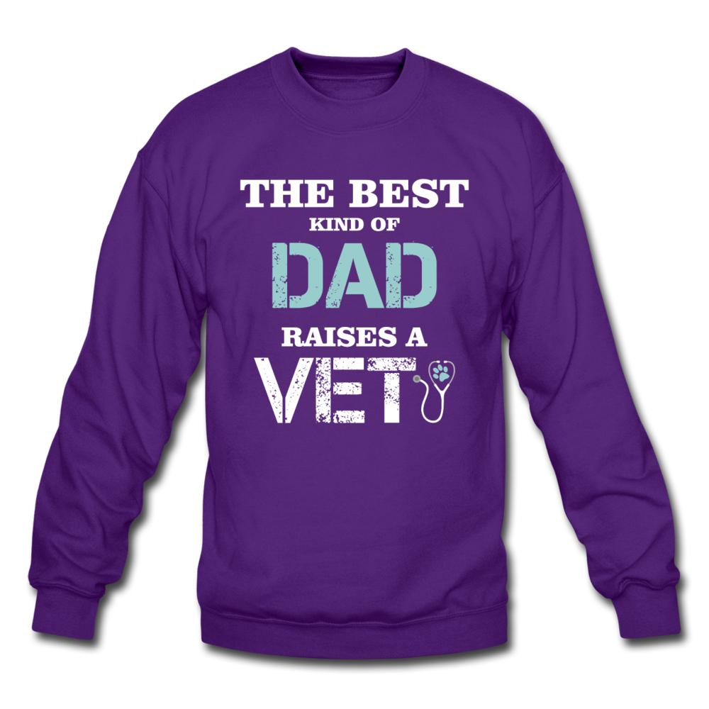 The best kind of Dad raises a Vet Crewneck Sweatshirt-Crewneck Sweatshirt-I love Veterinary