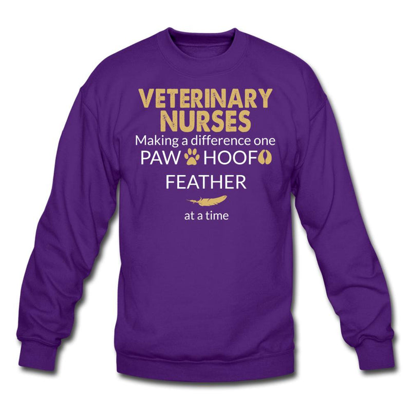 Vet Nurse Making a Difference Crewneck Sweatshirt-Crewneck Sweatshirt-I love Veterinary