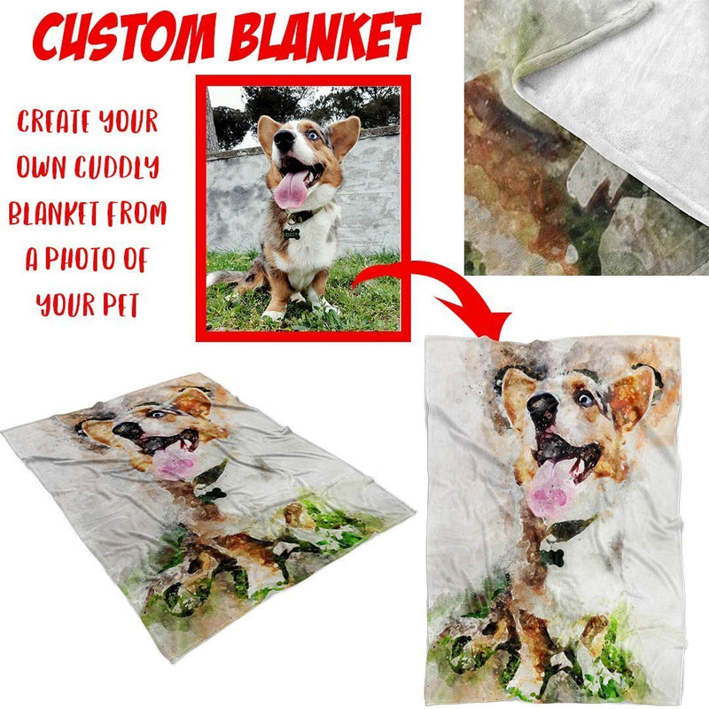 Custom Blanket from a Photo of Your Pet