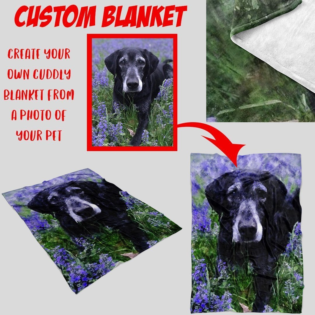 Custom Blanket from a Photo of Your Pet-Custom Blanket-I love Veterinary