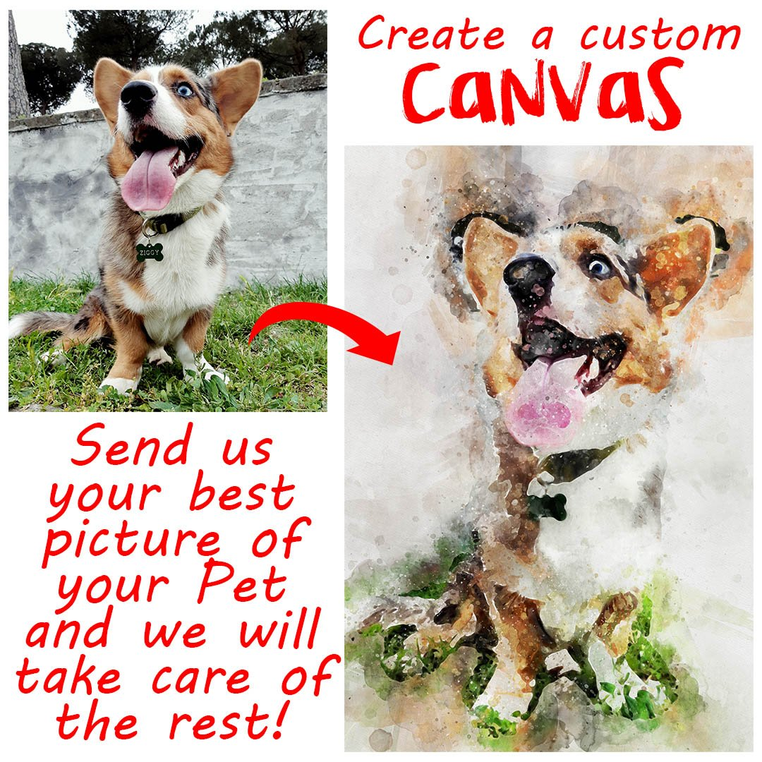 Pet Photo Custom Canvas-Custom Canvas-I love Veterinary