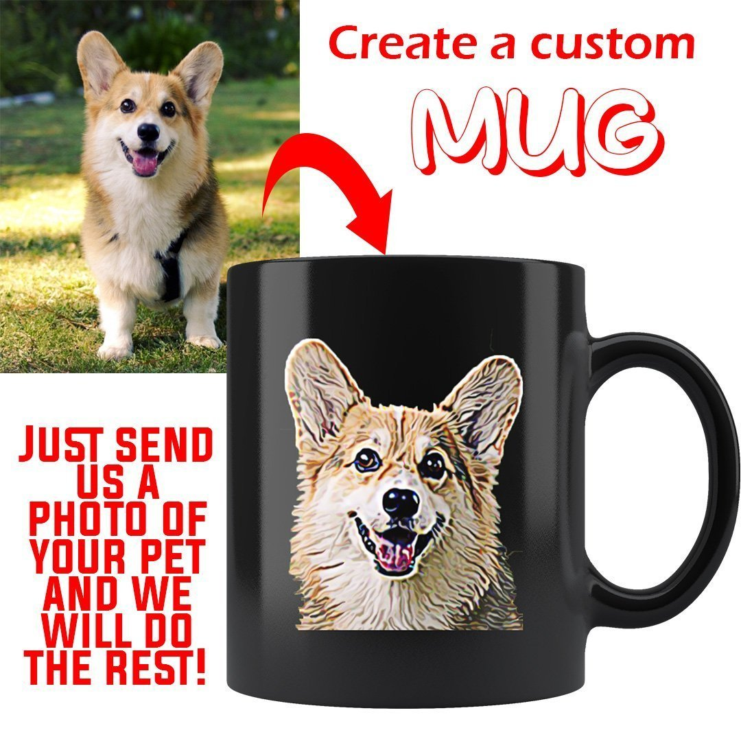 Custom Mug from Photo of Your Pet-Custom Mug-I love Veterinary