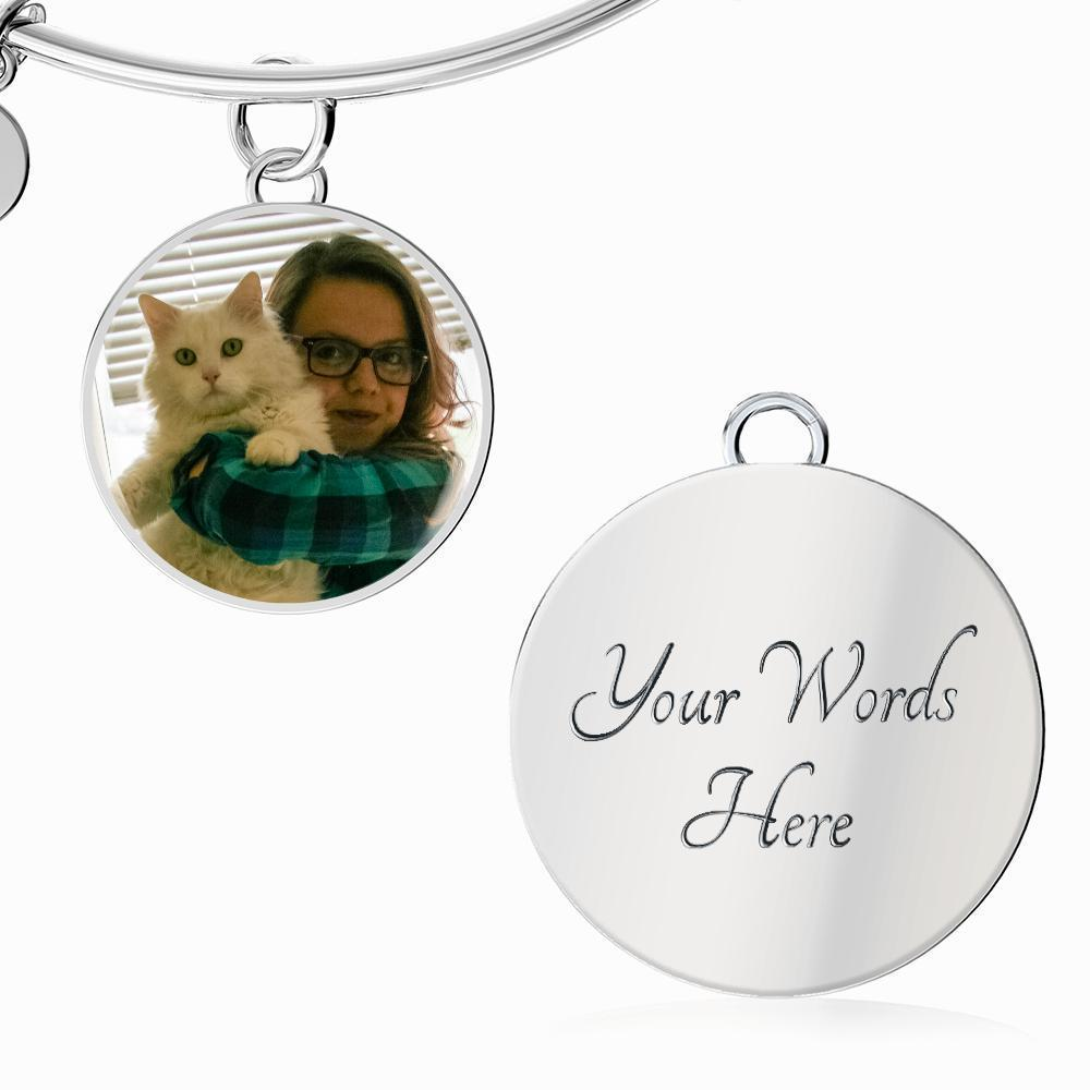 Personalized with a pet photo Jewelry Gift Luxury Circle Necklace-Custom Necklace-I love Veterinary