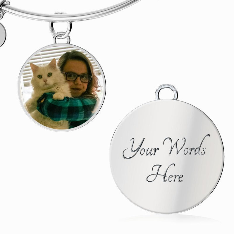Personalized with a pet photo Jewelry Gift Luxury Circle Necklace