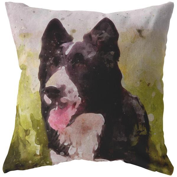 Oil Paint Pillow Custom Designed from a photo of your pet-Custom Pillows-I love Veterinary