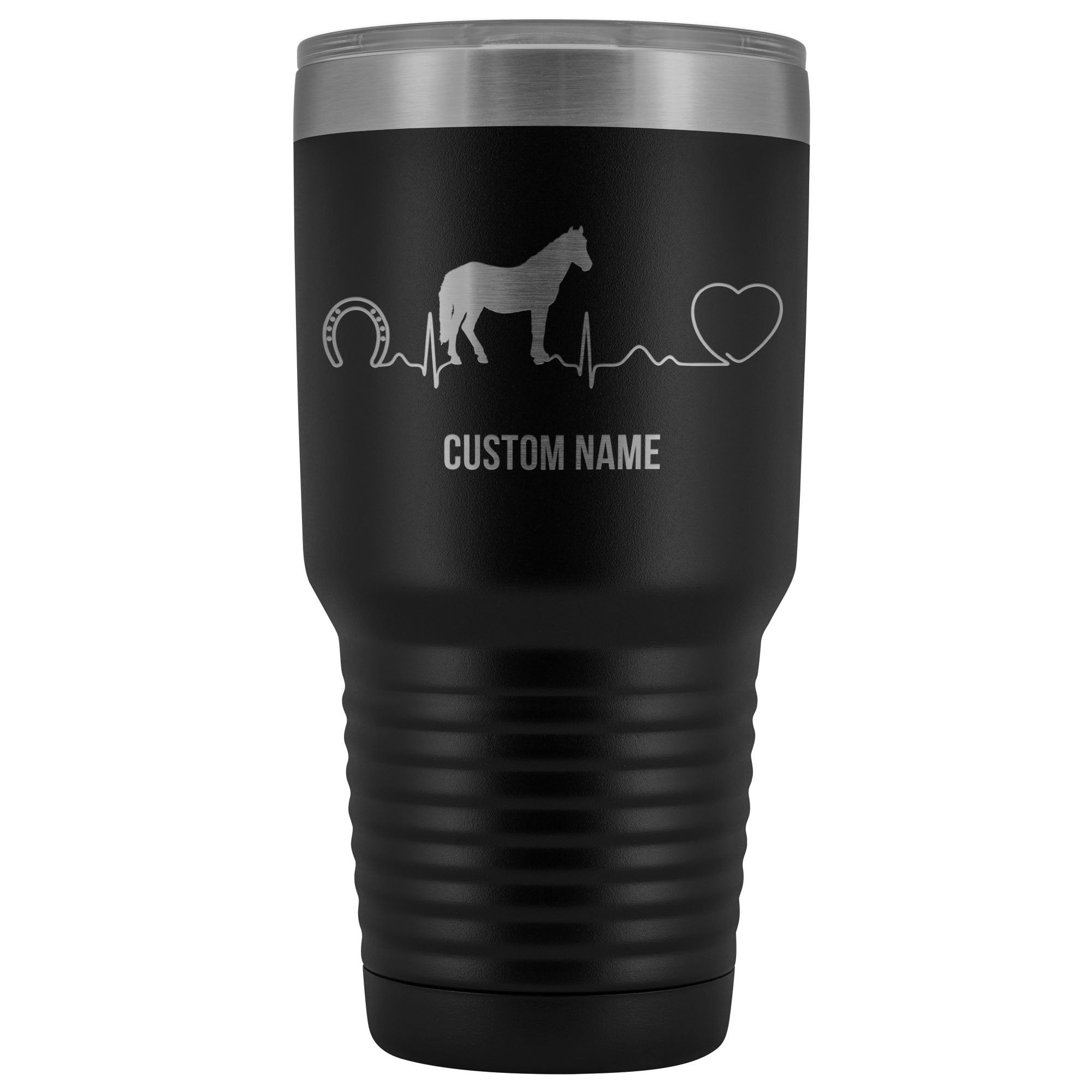 Horse or Cow Pulse Custom Name Tumbler-Custom Tumbler-I love Veterinary
