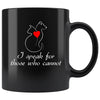 Animal Rescue - I speak for those who cannot 11oz Black Mug-Drinkware-I love Veterinary