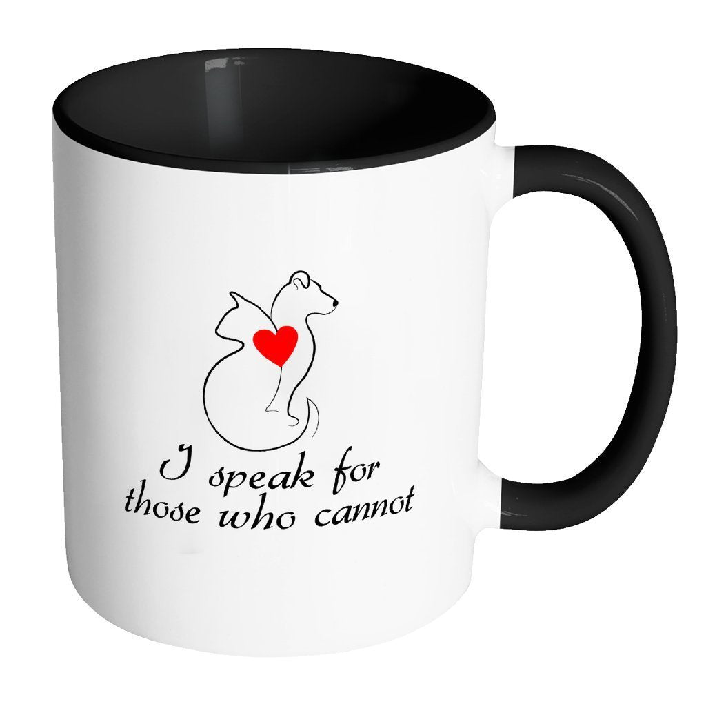 Animal Rescue Inner Color Mug 11oz - I speak for those who cannot-Drinkware-I love Veterinary