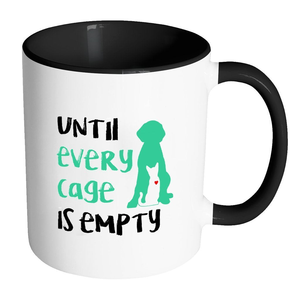 Animal Rescue Inner Color Mug 11oz - Until every cage is empty-Drinkware-I love Veterinary