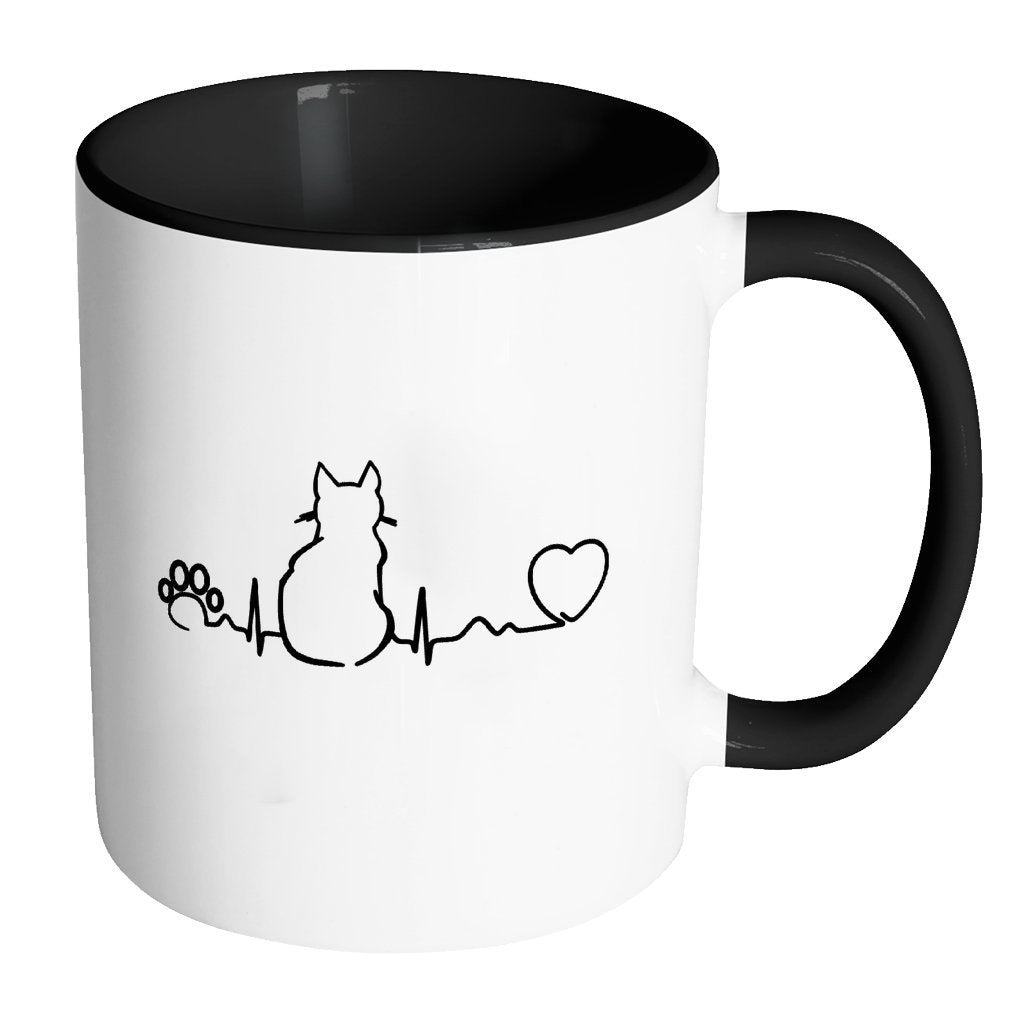 Cats Inner Color Mug 11oz - Cat Pulse-Drinkware-I love Veterinary