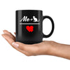 Cats - Me + Cat 11oz Black Mug-Drinkware-I love Veterinary