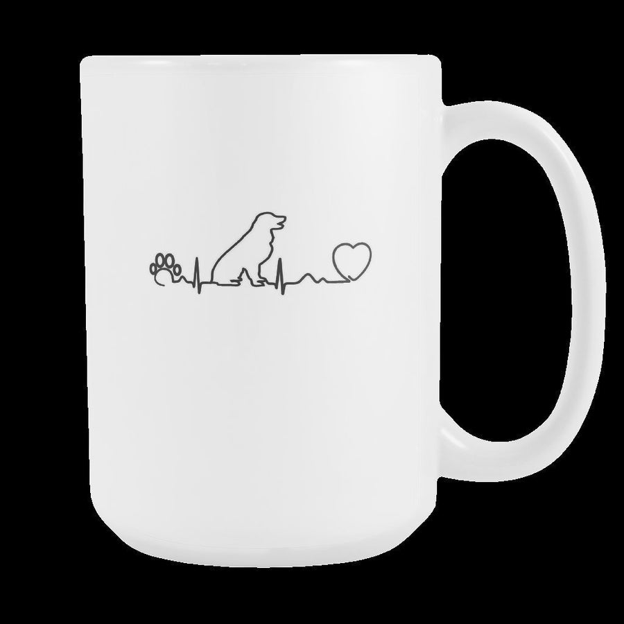 Dogs - Dog heartbeat White Mug 15oz