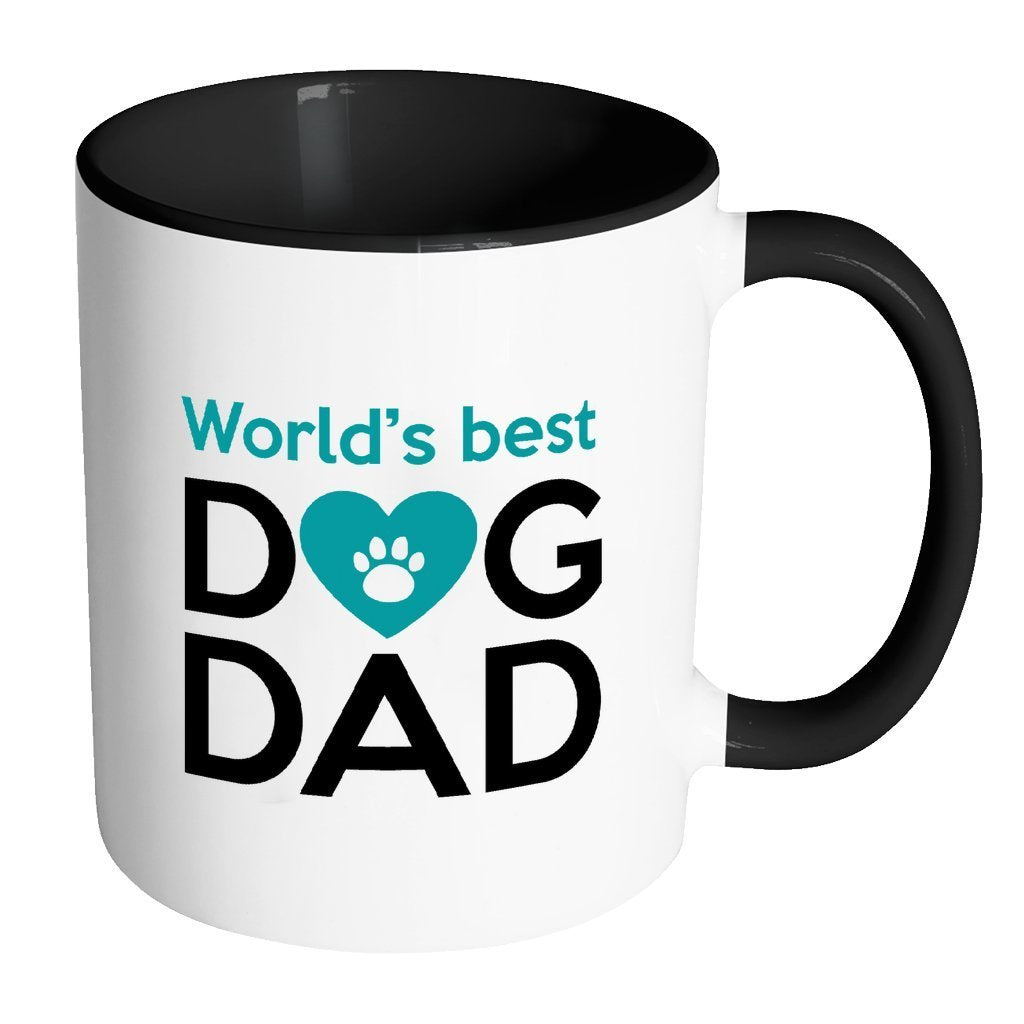 Dogs Inner Color Mug 11oz - World's best dog dad-Drinkware-I love Veterinary