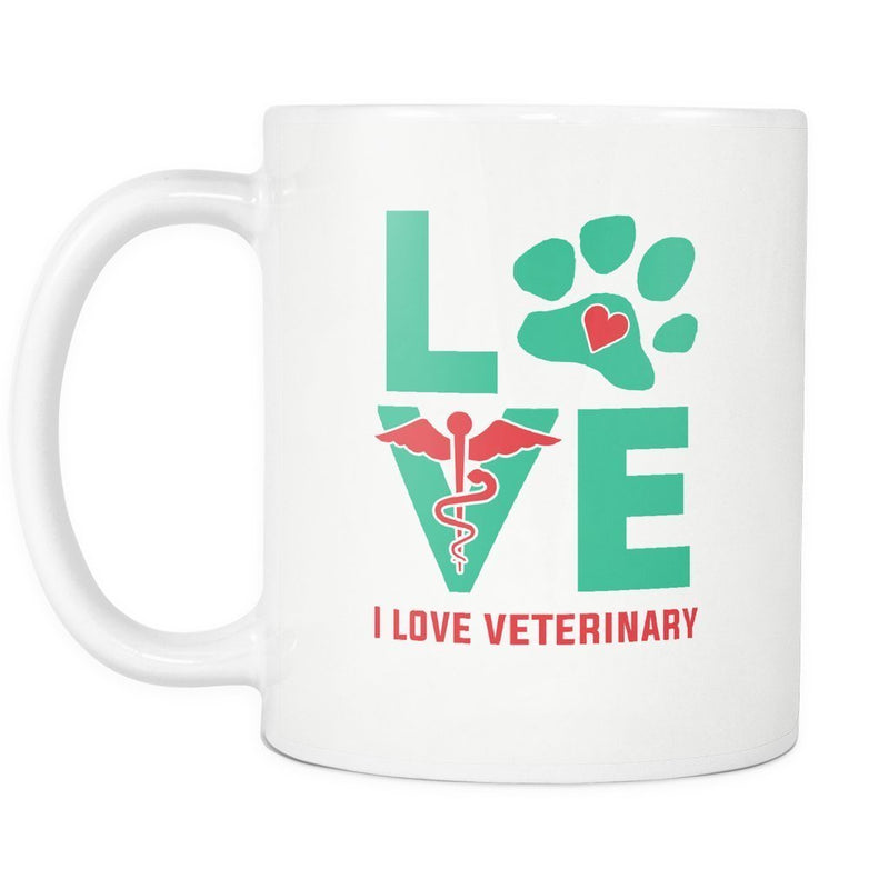 I Love Veterinary 11oz White Mug-Drinkware-I love Veterinary