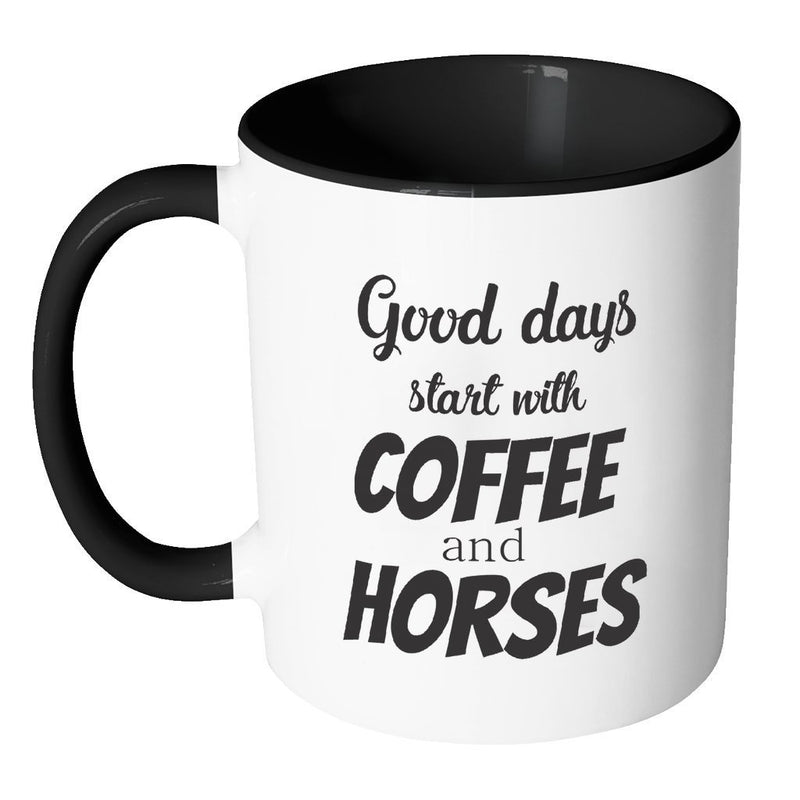 Large Animal Vet Inner Color Mug 11oz - Coffee and horses-Drinkware-I love Veterinary