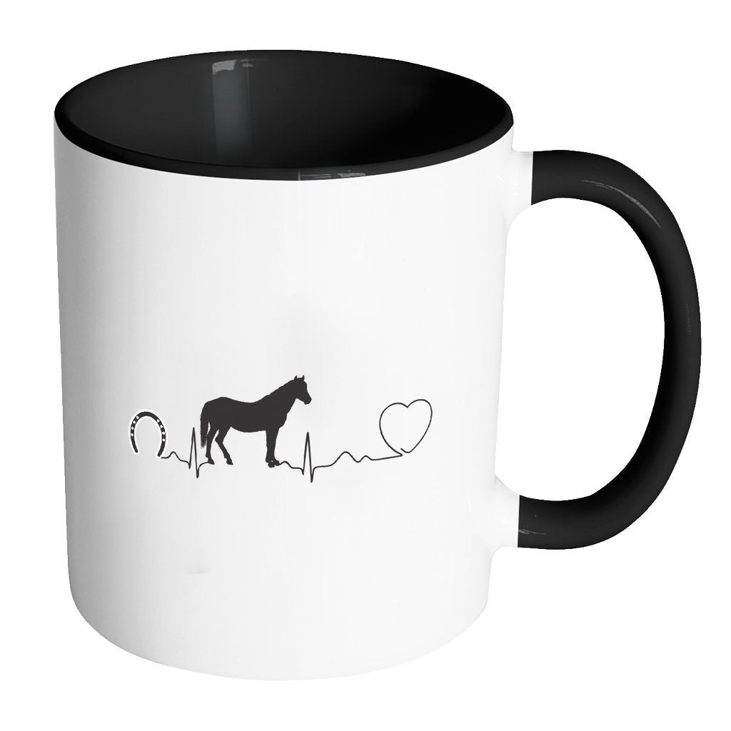 Large Animal Vet Inner Color Mug 11oz - Horse pulse-Drinkware-I love Veterinary