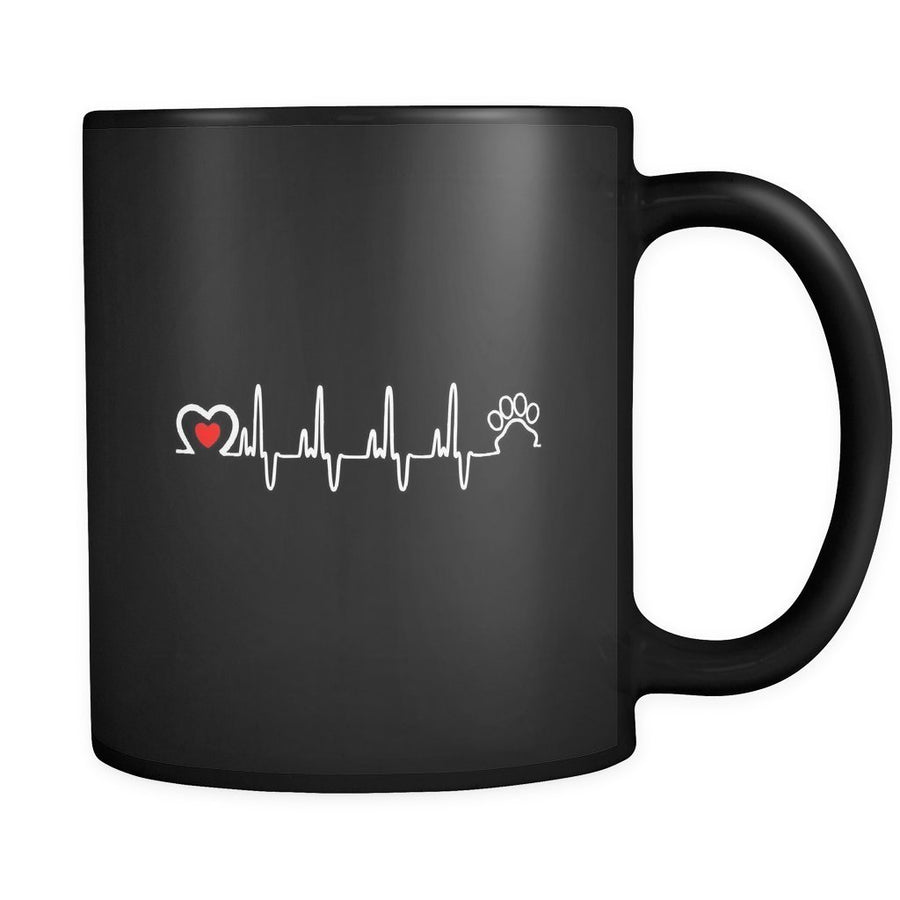 Pets - Animal Love Beat 11oz Black Mug-Drinkware-I love Veterinary