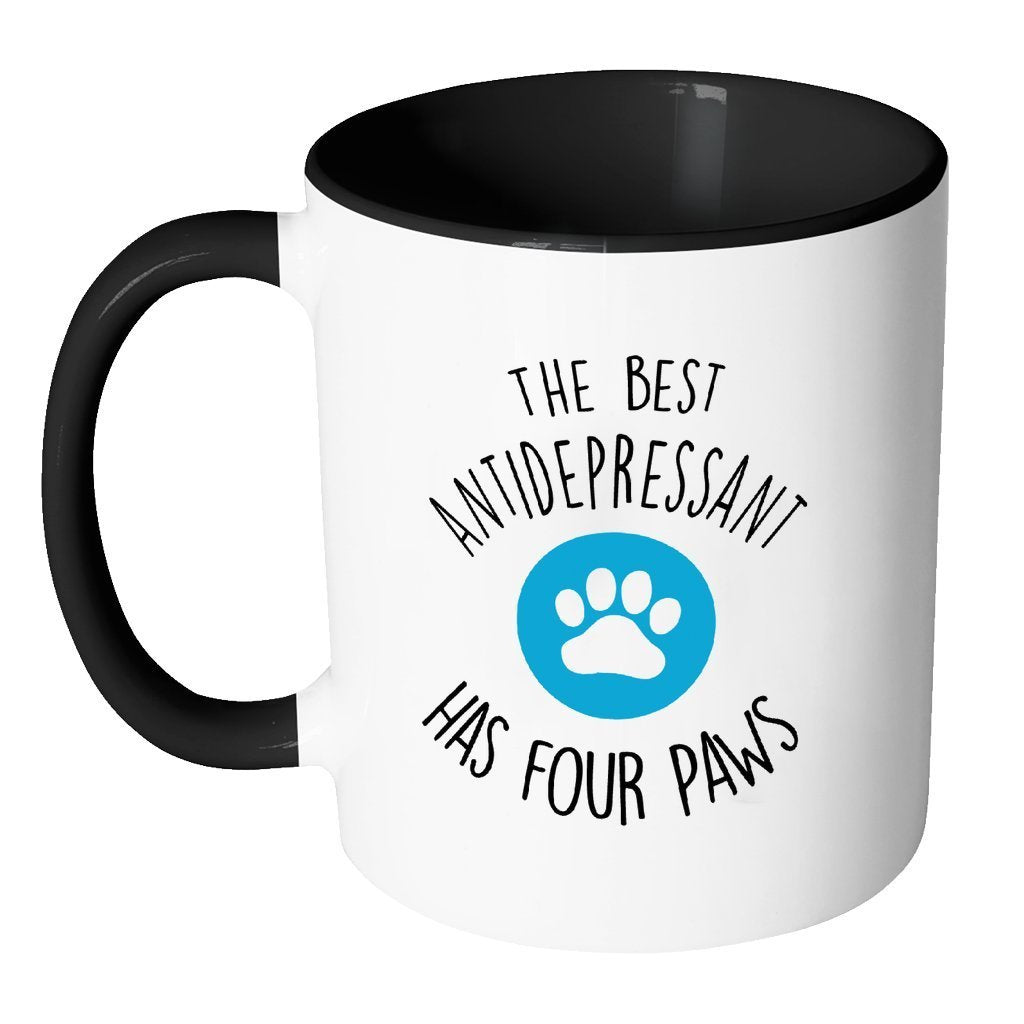 Pets Inner Color Mug 11oz - The best antidepressants has four paws-Drinkware-I love Veterinary